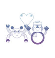 couple of robots icon vector image vector image