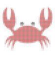 crab halftone icon vector image