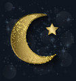 crescent moon with stars vector image vector image