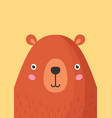 cute bear snout flat adorable vector image vector image