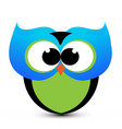 cute owl cartoon icon vector image