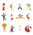 Dance Icon Flat vector image vector image