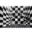 Dirty checkered room vector image vector image