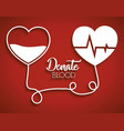 donation blood design vector image vector image