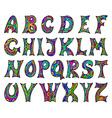 Fantasy hand drawn font vector image vector image