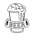 figure glass beer icon image design vector image vector image