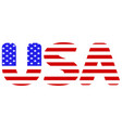 flag of usa abbreviation vector image