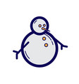 flat color snowman icon vector image vector image