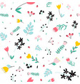 flowers print design seamless vector image