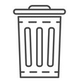 garbage bin icon outline style vector image vector image
