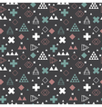 Geometric scandinavian seamless pattern Tribal vector image vector image