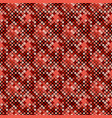 geometrical red diagonal square pattern vector image vector image