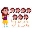girl child kid teen schoolchildren vector image vector image