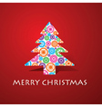 Group of gears make a christmas tree vector image vector image