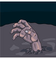 halloween zombie hand cartonn vector image vector image