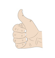 hand thumb up vector image vector image