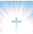 heaven christian cross vector image vector image