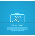 Icon airplane and suitcase The concept of travel vector image vector image
