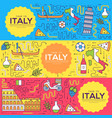 italy brochure cards thin line set country vector image vector image