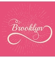lettering Brooklyn Stock vector image
