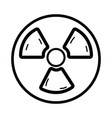 line radiation symbol to dangerous and ecology vector image vector image