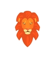 Lions Head Realistic Simplified Drawing vector image vector image