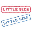 little size textile stamps vector image vector image