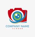 logo photographer vector image vector image