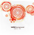 Mechanical circle background vector image