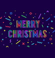 merry christmas greeting card with text merry vector image vector image