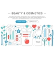 Modern Flat thin Line design Beauty and cosmetics vector image vector image