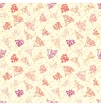 Nautical pattern with corals on sandy beach vector image