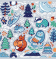 new year and christmas seamless pattern with vector image