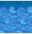 ornate doodle sea background vector image