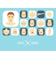 Plastic surgery icon set Plastic surgery banner vector image