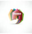 Real estate concept design element speech bubble vector image