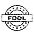 scratched textured fool stamp seal vector image