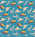 seamless pattern transport seamless pattern with vector image vector image