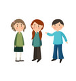 set children isolated on white background cute vector image