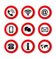 set icons on white background on topic vector image vector image