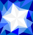 Star on Background White Cool wallpapers vector image vector image