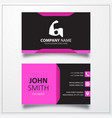 Strong arm icon business card template