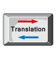 Translate button icon cartoon style vector image vector image