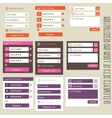 user interface elements sets login and vector image vector image