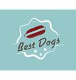 Vintage hotdog emblem vector image