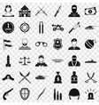 war weapon icons set simple style vector image vector image