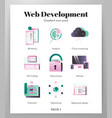 web devolopment icons gradient pack vector image