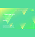 website landing page geometric background vector image