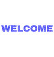 welcome text in dot style vector image
