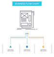 wire framing web layout development business flow vector image vector image